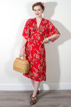 Maximum Chrysanthemum Dress in Red from Oblong Box Shop #oblongboxshop  SO CUTE!!! @oblongboxshop