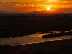 sunrise over the Gila River