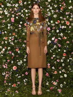 Gucci - Cruise Collection 2013, abito flora marrone