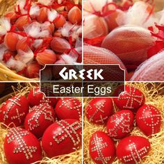 Easter eggs are a big part ofthe Greek Orthodox Easter (Pascha)tradition. They are died red to symbolize the blood of Christ.     On Hol...