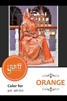 Color for 3rd and 4th October - ORANGE. #yuvti #diwalicontest #rajputiposhak