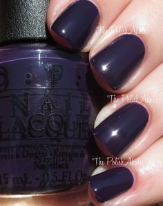 "OPI's ""Viking in a Vinter Vonderland"" from its Fall 2014 Nordic Collection. Is it a deep rich purple or black? In the sunlight it looks purple, otherwise it looks black! Love this vibe!! Edgy, goth, elegant..."