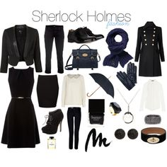 """""""Sherlock - Fashion"""" by melovesharrypotter on Polyvore If I ever go to London...I'm so wearing this. Way too hot to wear the whole outfit here."""