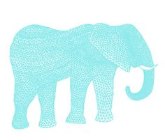 turquoise + elephant. Two of my favourite things.