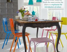 colour dining chairs - Google Search