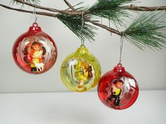 Our vintage plastic balls are featured first in A Mid-Century Christmas treasury by WishfulAmy on Etsy. Get 10% off any item in our shop if you use the code TAKE10 at checkout. Cheers!