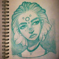 Monday night drawing :-), #art #drawing #illustration #instaart #portrait #sketchbook