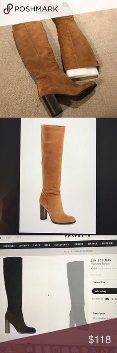 Sam Edelman side Victoria boots Worn once inside and in new condition. SOLD OUT color Sam Edelman Shoes Heeled Boots