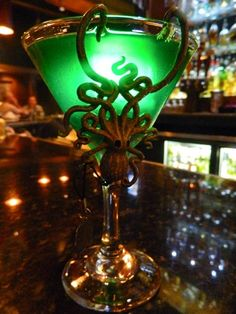 absinthe in an awesome glass