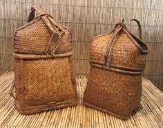 Pasiking backpack; Kalinga ethnic group, Philippines - nice closing detail