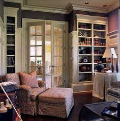 French doors have a frame around one or more transparent panels, usually filled with glass or a foggy translucent material. There are many styles and sizes of these panels, all of which are meant to maximize light in a room.