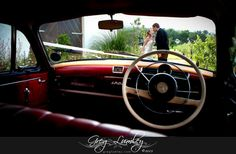 Red interior car.  Wedding cars and transport  by Greg Lumley photographer. Red Interior Car, Wedding Car, Red Interiors, Vespa, Taxi, Transportation, Trucks, Wasp, Hornet