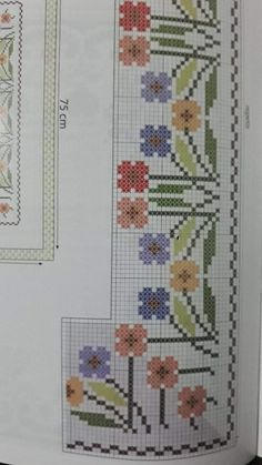 Cross Stitch Borders, Cross Stitch Designs, Cross Stitching, Cross Stitch Embroidery, Cross Stitch Patterns, Beach Crafts, Diy And Crafts, Kawaii Cross Stitch, Loom Beading