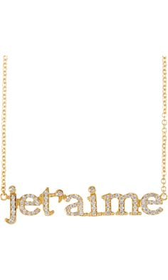 Jennifer Meyer Diamond Je T'aime Necklace, $3,125