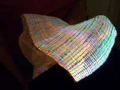 LED fibre optics used to weave. Inspiration to play with some new-to-me technology