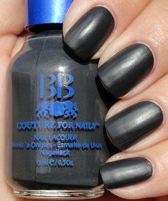 Best Soft Black, Charcoal, Matte, Satin Nail Polish Color For Women