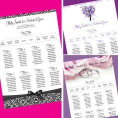 Wedding Table Plan / Seating Plan *40 Designs* Free Draft