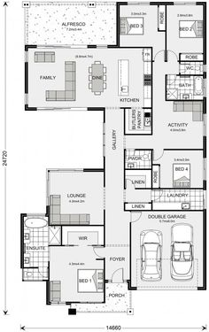 Beachmere 303 - G. Gardner Homes Dream House Plans, House Floor Plans, Activity Room, Modern Kitchen Interiors, Home Phone, Display Homes, Australian Homes, Floor Space, Big Houses