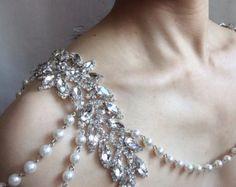 Amor Psycho boda nupcial Swarovski collar del por weddingvalle