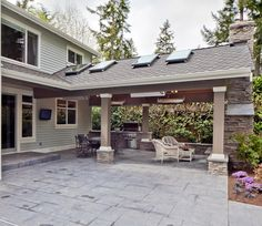 outdoor area - traditional - patio - seattle - DME Construction