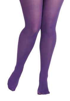 Rudimentary My Dear Tights in Purple - Plus Size, #ModCloth