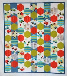 Hexagon quilts and other shapes without pesky little seams. Piece and quilt at the same time. Quilt Patterns Free, Free Pattern, Quilt Binding, Dresden Plate, Hexagon Quilt, Hand Quilting, Baby Quilts, How To Make