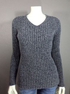 Express World Brand V Neck Ladies' Sweater - L #ExpressWorldBrand #VNeck