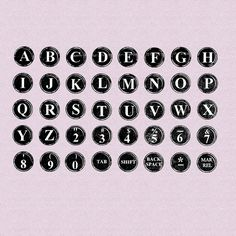 Typing Keys  Unmounted Rubber Stamp Alphabet