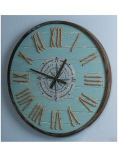 Rustic Aqua Wall Clock