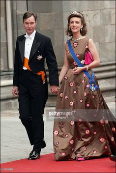 Wedding of Princess Martha Louise and Ari Behn in Trondheim, Norway on May 24, 2002 - Guillaume and Sibilla of Luxemburg.