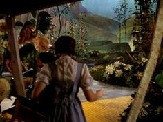 Dorothy seeing the Land of Oz.