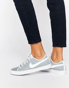 Nike Grey Textured Primo Court Trainers