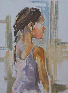 "Daily Paintworks - ""Ballerina, Original figurative oil"" - Original Fine Art for Sale - © Carol DeMumbrum"