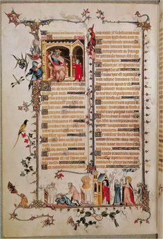 Belleville Breviary - jean pucelle- david before saul early 14th century manuscript illumination