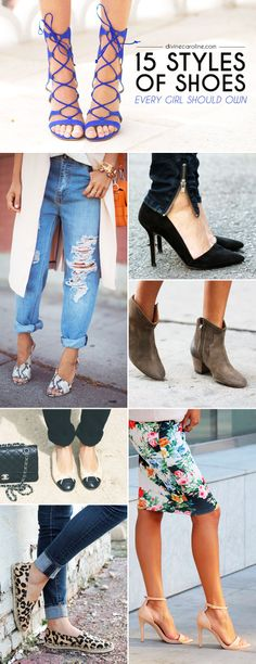 Shoes can make or break an outfit. Check out which shoes are staples in every woman's wardrobe! #shoes #styleguide