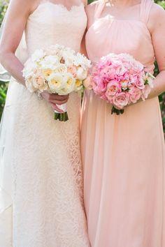 Beautiful bouquets: http://www.stylemepretty.com/2015/02/27/clasic-santa-barbara-estate-wedding/ | Photography: Jasmine Star - http://jasminestar.com/