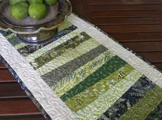 Walk In The Woods Quilted Table Runner by theartsynest on Etsy