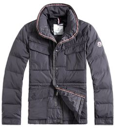Global Sales Moncler Mens Down Jackets Multi Pockets Grey - $211.65 Moncler Jackets For Men by www.monclerlines....