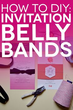 Free Printable Belly Bands and Tags for Your DIY Invitations A Practical Wedding: We're Your Wedding Planner. Wedding Ideas for Brides, Bridesmaids, Grooms, and More