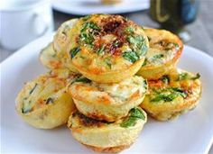 mini frittata brunch bar. easy to make ahead, i'm going to try sunday am.  tablespoon.com