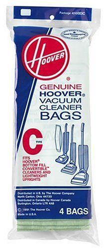 "#manythings.online 4 Pack, #Hoover, Style ""C"" Bottom Fill Hoover Vacuum Cleaner Bag, For Hoover Convertible Upright Cleaners."