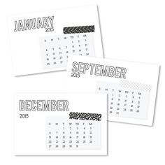 Free 2015 project life printable calendars for project life