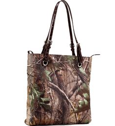 #RealtreeAPG Classic Square #Camo #ToteBag with Belted Straps - Coffee Trim
