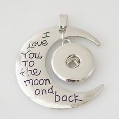 To The Moon 18mm Pendant Base $9.50 My Snappy Place www.shelzsnappyplace.com