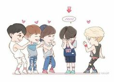Cute SHINee Fanart
