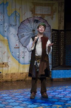 "Jered Tanner as Feste in Utah Shakespeare Festival's 2007 production of ""Twelfth Night"""