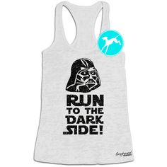 Star Wars Workout Tank Run to the Dark Side Darth Vader Disney... ($20) ❤ liked on Polyvore