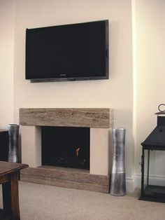 Fantastic Free fake Fireplace Remodel Strategies – Rebel Without Applause Above Fireplace Ideas, Tv Over Fireplace, Fireplace Frame, Fireplace Remodel, Fireplace Inserts, Modern Fireplace, Living Room With Fireplace, Fireplace Design, My Living Room