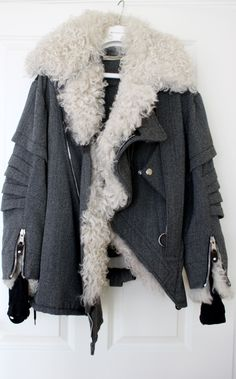 thefinalact:  lacollectionneuse:  shearling aviator jacket (fr 38) • nicolas ghesquière for balenciagaUS $7,995.00 BIN  THE shearling jacket...