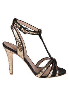 RED VALENTINO RED VALENTINO GLITTER SANDALS. #redvalentino #shoes #